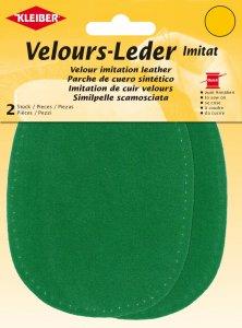 Kleiber Velours-Leder-Imitat apfelgrün