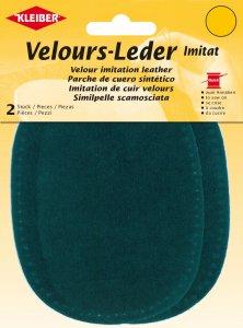 Kleiber Velours-Leder-Imitat wasserblau