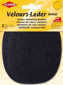 Kleiber Velours-Leder-Imitat dunkelblau